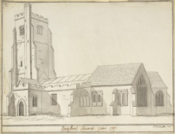 Rochford Church Essex 1787
